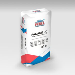 Шпатлевка Perel. Серая цементная FACADE-C