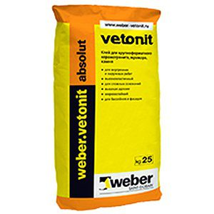 Плиточный клей WEBER absolut Vetonit