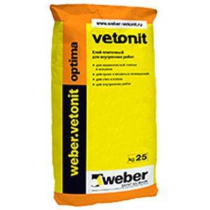 Плиточный клей WEBER optima Vetonit