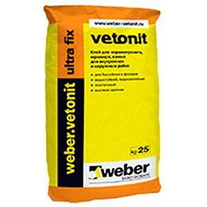 Плиточный клей WEBER ultra fix Vetonit