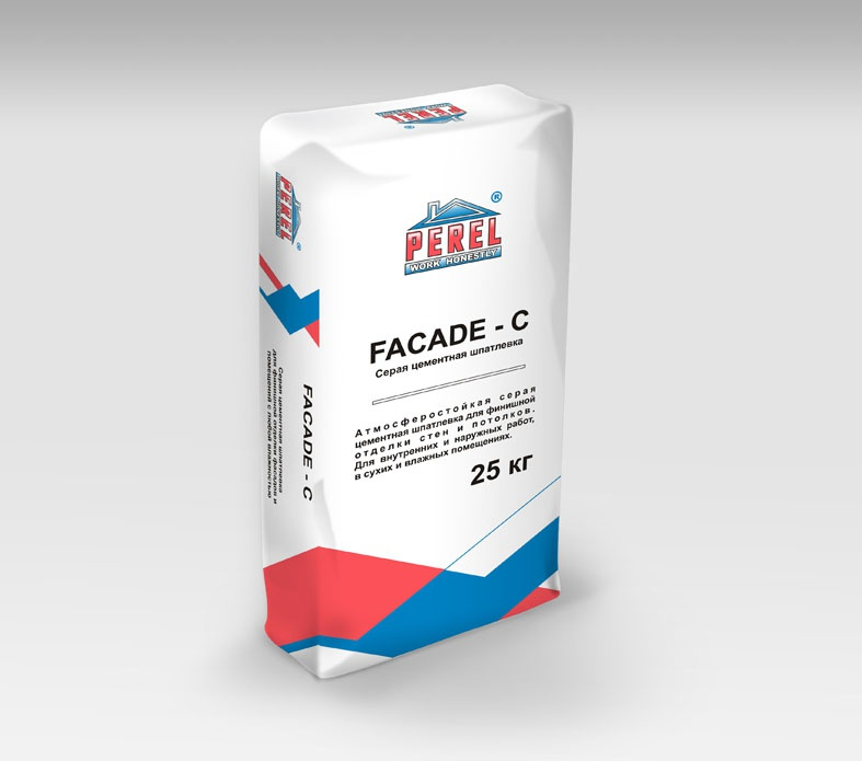 Perel. Серая цементная FACADE-C