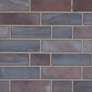 Фасадная клинкерная плитка Stroeher Keravette Chromatic achatblue flashed 325 (2110)