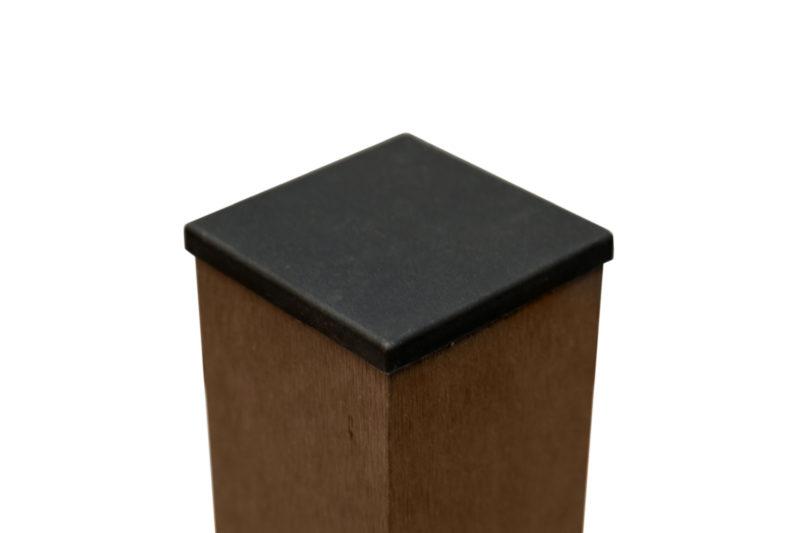 Столб заборный с крышкой Wenge