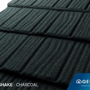 Композитная черепица Gerard Shake CHARCOAL размер 1250Х371 мм