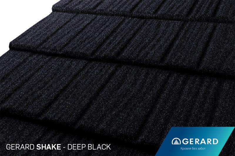 Композитная черепица Gerard Shake DEEP BLACK